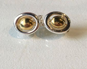 Vintage Goldtone and Silvertone NJY Clip On Earrings