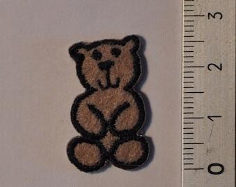 Patch, applique, brown bear