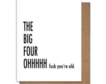 Funny Birthday Card 40, Letterpress