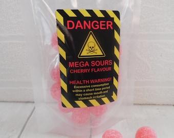 Mega Sour Cherry Balls - Novelty Gift, Christmas Gift, Secret Santa Gift, Stocking Filler