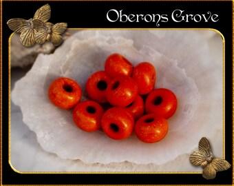 30 orange Magnesite Beads 5x3mm