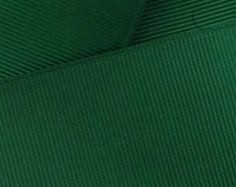 Forest Green Grosgrain Ribbon Solid- Choose Width / Length