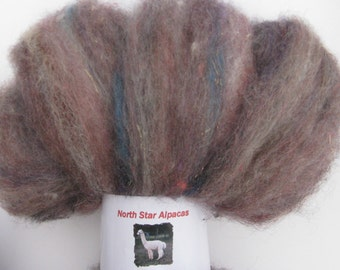 Roving, Fiber for Spinning and Felting - Alpaca, Sheep, Silk, and Angelina - 2 ounces