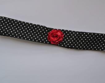 headband / hair with red rose headband