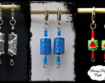 Set of 2 Stitch Markers ~ Many Options to Choose From ~ Crochet Stitch Markers ~ Progress Markers ~ Knitting Progress Markers