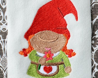 Gnome 5, INSTANT DIGITAL DOWNLOAD, Embroidery Design for Machine Embroidery 4x4