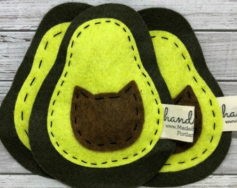 catnip cat toy - avocado - avocato - wool felt