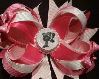 Barbie layered hair bow