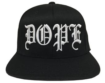 Dope 3D Old English Embroidery  on a 110 Snapback Flexfit