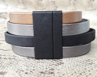 High quality European 40 mm resin slimline magnetic clasp