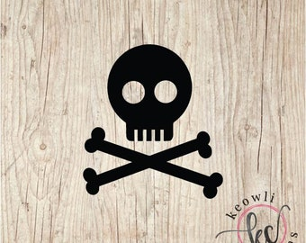 Skull and Crossbone Vinyl Decal