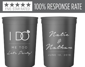 Personalized Stadium Cups 16oz, Came for the I Do's & Stayed for the Free Booze Wedding Stadium Cup, Stadium Cup, Wedding Stadium Cup (27)
