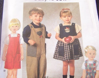 Simplicity 7729, Childrens, sizes  1/2-2, UNCUT sewing pattern, toddlers, craft supplies