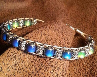 Guitar String Bracelet with Mood Beads