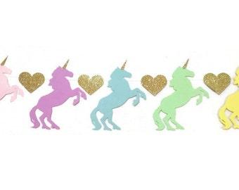 Rainbow Unicorn Birthday Party, Unicorn Banner, Unicorn Birthday Garland, Unicorn Party