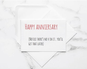 naughty anniversary card, dirty card for him, funny love card, card for husband, card for boyfriend, anniversary card, love card