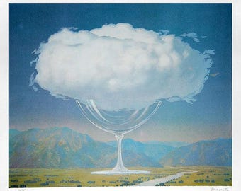 RENE MAGRITTE - limited edition original lithograph (Magritte Estate signature and blindstamp. Surrealism) x