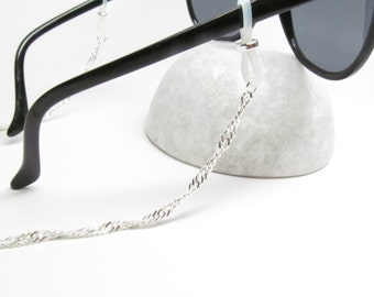 Silver Chain for Reading Glasses in Twisted Chain; Glasses Chain; Eyeglasses Leash; Glasses Necklace Holder; Cord for Readers; Kalxdesigns