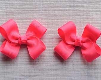 Tutti Frutti Hair Bows,Pigtail Hair Bows,3 Inches Wide,Non Slip,Alligator Clips,Birthday Party Favors