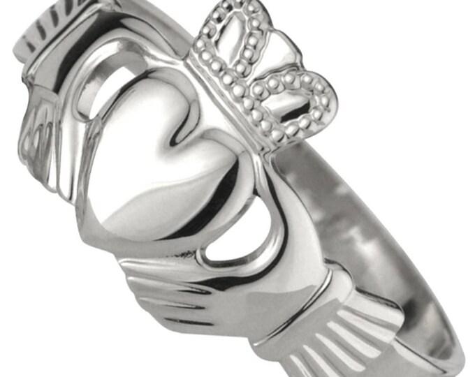 Silver Ladies CLADDAGH Ring
