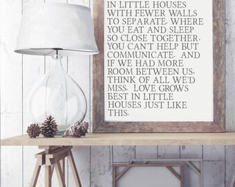 Love Grows Best Art Print