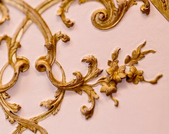 Versailles Paris Photograph, Golden Leaves,  Architectural Detail, Large Wall Art, French Wall Decor