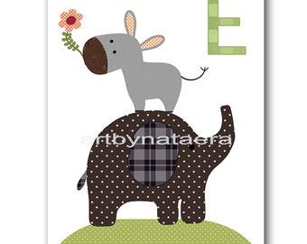 Elephant Nursery Art Baby Nursery Decor Printable Decor Baby Boy Nursery Print Digital Print Printable Wall Art 8x10 11X14 INSTANT DOWNLOAD