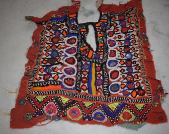 Vintage Small Banjara Neck Yoke Embroidery Applique Patch Sewing craft 72