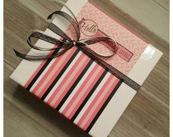 Hello Birthday Girl Candy Gift Box / Favor Box / Candy Wrappes / Personalized Gift