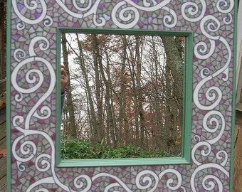 Whimsical Mosaic Mirror