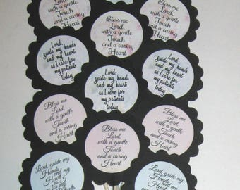 Nurses Prayer Cupcake Toppers/Party Picks Item #1730