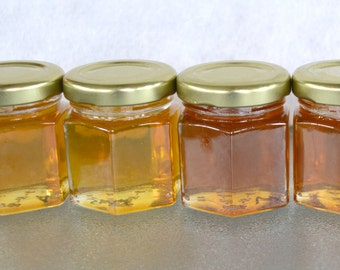 30- 2 oz. Pure Raw Honey Wedding Favor Jars, You choose your Varietal Honey Type, Bridal Shower, Baby Shower and Party Gifts