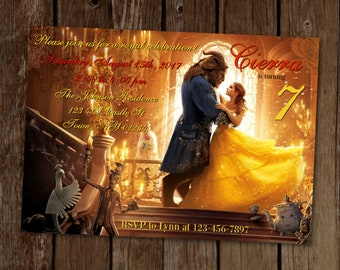 Beauty and the Beast Invitation, Belle Invitation, Belle Birthday Party, Beauty and the Beast Birthday, Printable Invitation