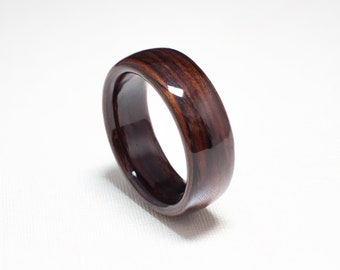 Bentwood Ring  Handcrafted In Cocobolo Wood