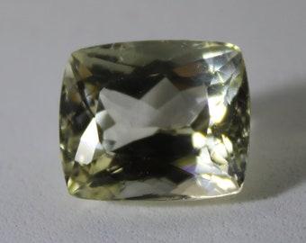 Yellow Kunzite or Triphane 14.25ct,Cushion,February Birthstone,Unheated,Untreated,VVS IF Clarity,Spodumene,Lithium Silicate,Sourced Afghan