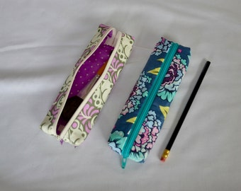 Modern Print Zippered Pencil Pouch - Pencil Case
