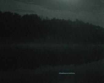 "Midnight Moon on Unity Lake Fine Art Photography 8 x 10"""