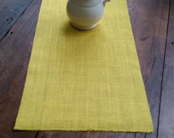 14 inch Burlap Runner - Clean edge - No fringe - Yellow - Ivory - Beige  - Natural - Harvest Gold - Brown