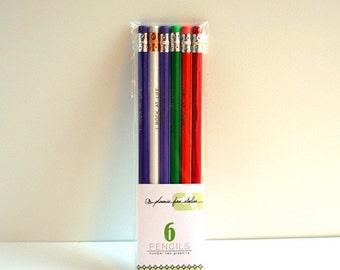 6 crayons ensembles-cadeaux - assortiment aléatoire