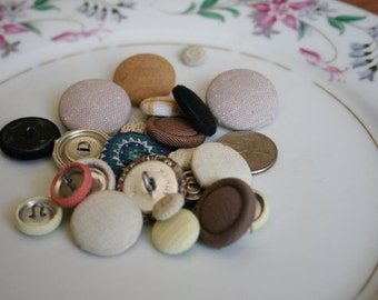 Cloth Covered Shank Sewing Buttons Jewelry Supplies