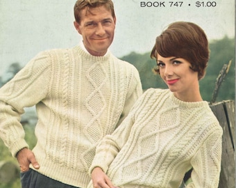 Knitting Jumper Pattern : Patons carfree fisherman knits sweater knitting patterns for the