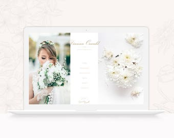 ProPhoto 6 Design for Wedding Photographers - Minimal ProPhoto 6 Theme - Photography ProPhoto 6 Website Design Template - INSTANT DOWNLOAD