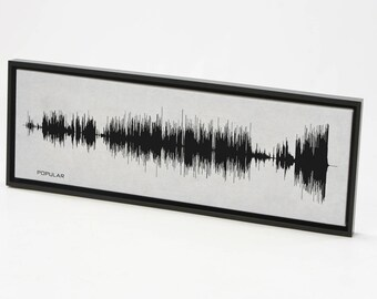Popular - Sound Wave Canvas Wall Art Design. Made from entire song recording. Original Broadway Cast Recording.