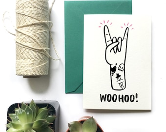 Encouragement Greeting Card| WOOHOO!
