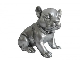 Dog piggy bank, French Bulldog, resin. Height 5.5 inches