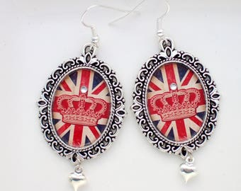 Cool Britannia Earrings- Union Jack Earrings- Union Jack Jewellery- London Jewellery- Anglophile Gift- British Flag Jewellery- Gift for Her