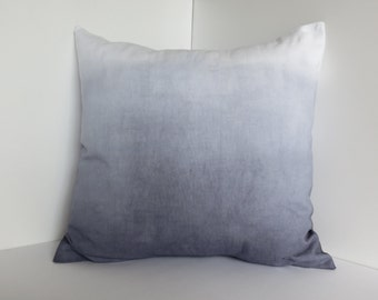 Dip-dyed Canvas Pillow Cover -- Gray