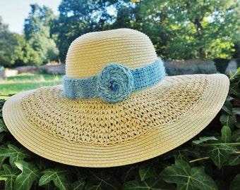 Ladies blue alpaca hand dyed hat band Alpaca hat band Blue alpaca hat band Blue hat band Blue hat Blue hats Blue alpaca hat band 302