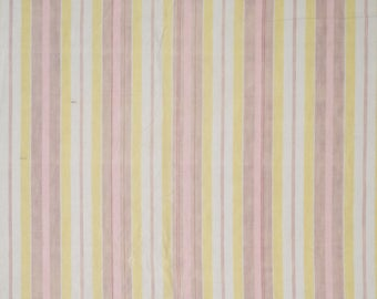 Pretty French antique ticking stripe in pale colors