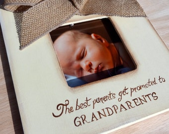 Ultrasound Grandparent Picture Frame Ultrasound Sonogram New Baby Announcement The best parents get promoted